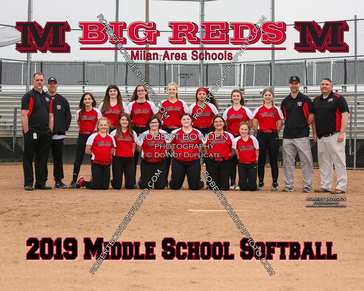 Milan 8x10 Middle School Softball 2019
