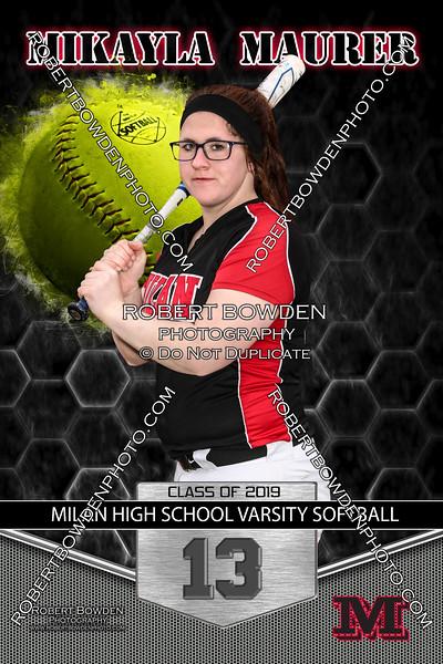 Softball Mikayla Maurer 13 Banner