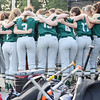 The Nashoba Chieftains huddle up before the start of the Central Mass. D1 softball semi-final game against Shepherd Hill at Worcester State on Tuesday evening. SENTINEL & ENTERPRISE/ Ashley Green