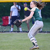Nashoba's #10 Alison Gaffney makes a play from the outfield during the Central Mass. D1 softball semi-final game against Shepherd Hill at Worcester State on Tuesday evening. SENTINEL & ENTERPRISE/ Ashley Green