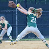 Nashoba's #20 Emily Sargent releases a pitch during the Central Mass. D1 softball semi-final game against Shepherd Hill at Worcester State on Tuesday evening. SENTINEL & ENTERPRISE/ Ashley Green