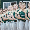 The Nashoba Chieftains line up before the start of the Central Mass. D1 softball semi-final game against Shepherd Hill at Worcester State on Tuesday evening. SENTINEL & ENTERPRISE/ Ashley Green