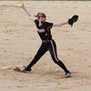NorthWood freshman Ashlyn Brooke fires a pitch during Friday's game against Wawasee in Syracuse.