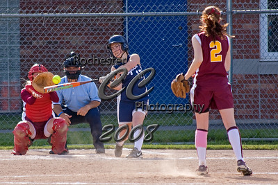Pittsford-Mendon Vikings Allison Taylor pitches to Brighton Barons Hitter #17