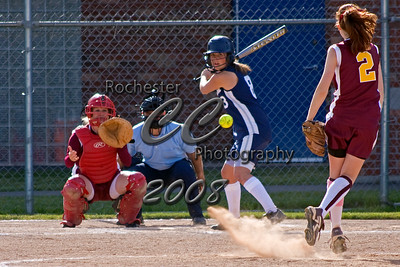 Pittsford-Mendon Vikings Alison Taylor pitches to Brighton Barons Hitter #8