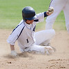 St. Bernard's #1 Dan Grammel is tagged out at second base during the Central Mass. Division 4 playoff game against Millbury on Thursday afternoon. SENTINEL & ENTERPRISE/ Ashley Green