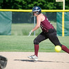 Ayer-Shirley's Natalie Carroll gets a jump off first base during the game against Sizer on Thursday afternoon. SENTINEL & ENTERPRISE / Ashley Green