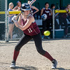 Ayer-Shirley's Megan Esielionis watches a pitch during the game against Sizer on Thursday afternoon. SENTINEL & ENTERPRISE / Ashley Green
