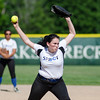 Sizer's Megan Brown delivers a pitch during the game against Ayer-Shirley on Thursday afternoon. SENTINEL & ENTERPRISE / Ashley Green