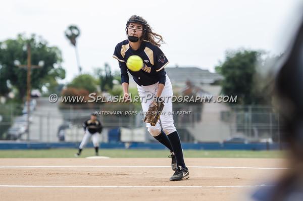 2015 Eagle Rock Softball vs Franklin Panthers