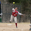 Fitchburg High School softball played Leominster High School softball on Monday afternoon at FHS. FHS's third baseman DeJaneira Falcon gets ready to fire the ball to first after picking up a ground ball during action in the game. SENTINEL & ENTERPRISE/JOHN LOVE