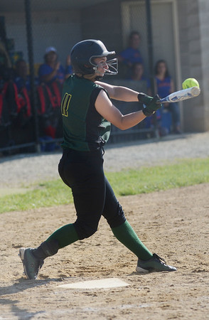 HALEY WARD | THE GOSHEN NEWS<br /> Wawasee senior Danielle Gunkel bats during the sectional game against West Noble on Monday at Fairfield High School. Wawasee won 4-1 to advance in the tournament.