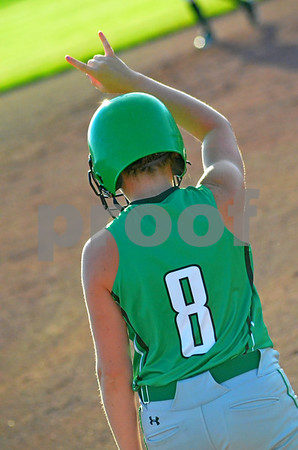 - Messenger photo by Britt Kudla<br /> St. Edmond's Katy Bocken makes a play for second base on tuesday nigh at Roger's park