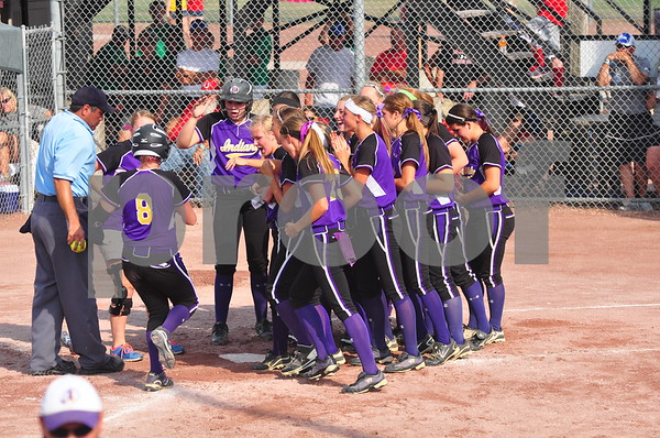 Indianola and Dallas Center-Grimes faced off in a Class 4A semifinal at the state softball tournament in Fort Dodge on Thursday, July 25, 2013.