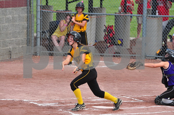 Eddyville-Blakesburg-Fremont and Alburnett met in a Class 2A quarterfinal at the 2014 state softball tournament in Fort Dodge. EBF won the game.