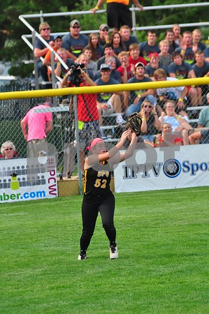 Center Point-Urbana and Greene County met in a Class 3A quarterfinal at the state softball tournament in Fort Dodge on Monday, July 21, 2014. Greene County won the game, 2-0.