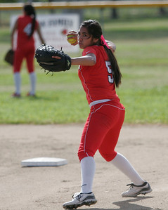 Lina Padilla (5) - Lindsay High School softball - 2013