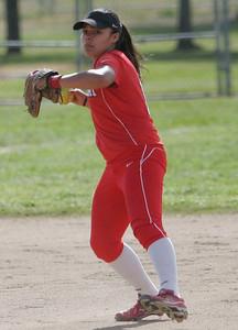 Christina Castro (10) - Llinsday High School Softball 2013.