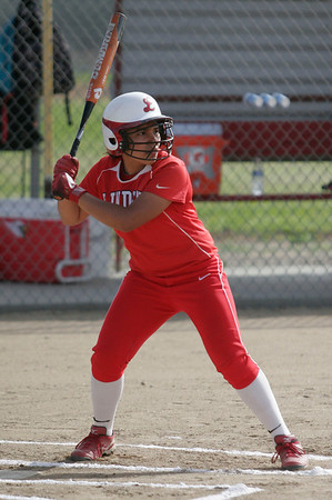 Lindsay Cardinal Christina Castro (10) P/SS at bat against Strathmore on April 4, 2013.