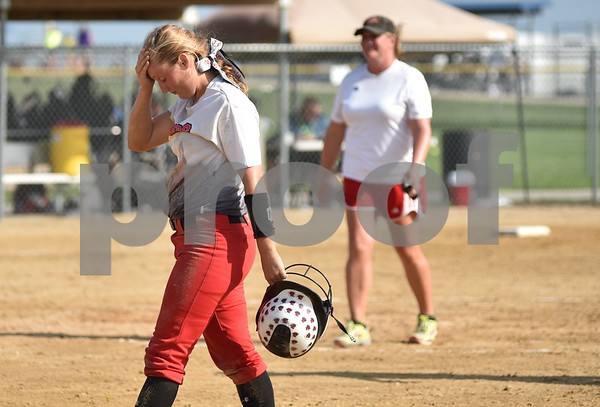 Fort Dodge vs Davenport West during class 5A Consolations finals State Softball Tournament at Harlan Rogers Sports Complex on July 20, 2016