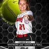 Softball Kylie Wilson 21 Banner