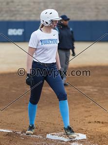 Woodson @ Yorktown Varsity Softball (19 Mar 2015)