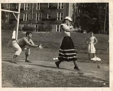 Three Boys Playing Softball (01214)
