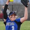 Volunteer pitcher, #9, Morgan Marshall. Photo by Ned Jilton II