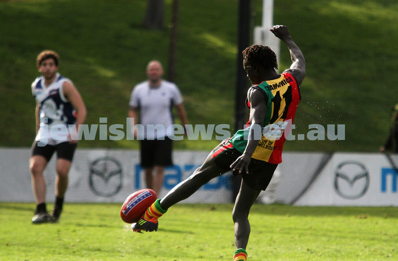 10-6-12. Solidarity Cup. Africa v Israel. Arden Street, Melbourne. Photo: Peter Haskin