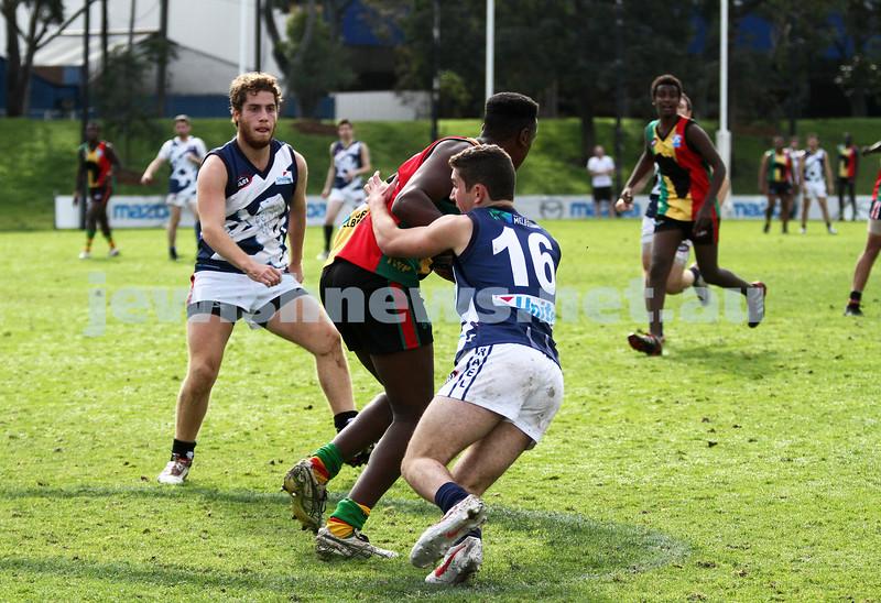 10-6-12. Solidarity Cup. Africa v Israel. Arden Street, Melbourne. Photo: Peter Haskin