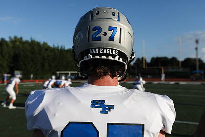 Photos from a varsity football game between the South Forsyth War Eagles and the Marietta Hornets at Marietta High School in Marietta, Ga., on Friday, Aug. 20, 2021. (Casey Sykes for South Forsyth)