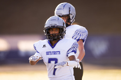 Photos from a South Forsyth freshmen high school football game at West Forsyth High School in Cumming, Ga., on Thursday, September 2, 2021. (Casey Sykes)