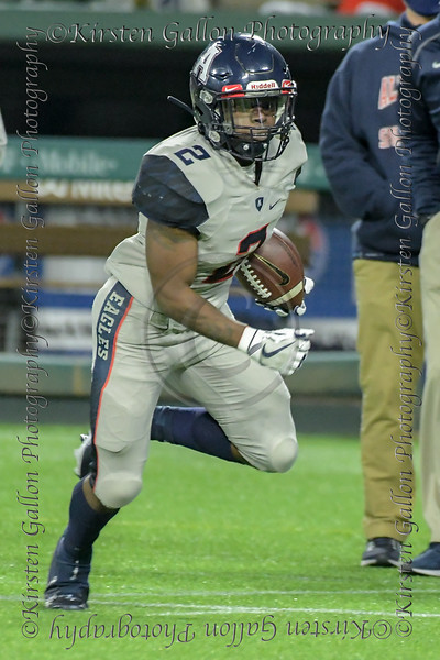 Allen RB #2 .         is off to the endzone for an Allen touchdown.