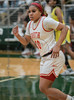 #10 SGP guard Victoria Dixon hustles back to get in position. <br /> South Grand Prairie High girls basketball takes on DeSoto High girls basketball team in the Texas State 6A semi-finals.