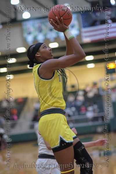 #5 Sa'Myah Smith takes a shot deep in the paint. <br /> South Grand Prairie High girls basketball takes on DeSoto High girls basketball team in the Texas State 6A semi-finals.