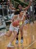 #3 SGP guard Kiara Jackson drives the lane. <br /> South Grand Prairie High girls basketball takes on DeSoto High girls basketball team in the Texas State 6A semi-finals.