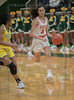 #3 SGP guard Kiara Jackson defended by #3 DeSoto guard Kayla Glover<br /> South Grand Prairie High girls basketball takes on DeSoto High girls basketball team in the Texas State 6A semi-finals.