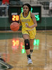 #3 DeSoto guard Kayla Glover brings the ball up court. <br /> South Grand Prairie High girls basketball takes on DeSoto High girls basketball team in the Texas State 6A semi-finals.