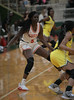 #5 center Nxerra Maluw stands her ground against an offernse trying to move the ball up the court. <br /> South Grand Prairie High girls basketball takes on DeSoto High girls basketball team in the Texas State 6A semi-finals.
