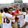 Matt Hamilton/The Daily Citizen<br /> SE principal Denise Pendley and athletic director Mark Lentych celebrate with SE15 and SE3 at the conclusion of the game.