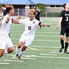 Matt Hamilton/The Daily Citizen<br /> SE14 and SE11 celebrate after SE14 scored the second goal of the game.