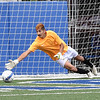 Matt Hamilton/The Daily Citizen<br /> SE goalie dives but can't stop the second PK of the day.