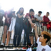 Matt Hamilton/The Daily Citizen<br /> SE2 lets fans touch the trophy after their victory Saturday.