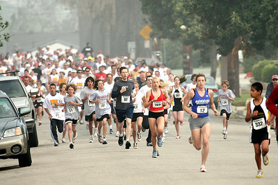 Many current and former members of the Southern California Road Runners youth distance team ran in this Redlands, CA 5K in May 2006.