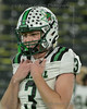 Southlake quarterback #3 Quinn Ewers goes to midfield for the coin toss.