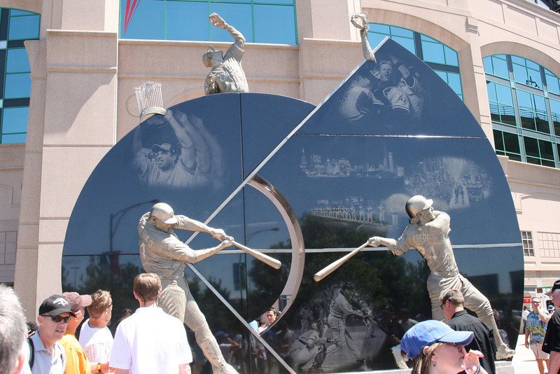 Monument to the 2005 World Series Champions outside US Cellular Field (Sox Park)
