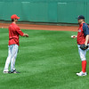 "Penny: ""See, when I serve up a big fat homerun ball, I like to do it with this here grip""<br /> Buchholz: ""Ohhh. That's what I've been missing."""
