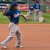 Manny fielding a little 3rd base