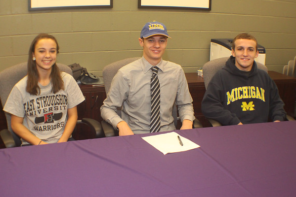 Three MTHS Standouts sign with Michigan, East Strousburg and Univ. of New Haven  for Wrestling, Softball and Baseball Scholarships. Congrats to Sal Profacci, Kendra Barlotta and Alex Hyman, Nov 24, 2014