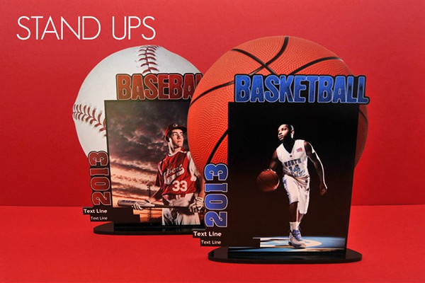 <center>~$25.00~ Stand out with Stand Ups! Image of your athlete, include the name, year and team color </center>